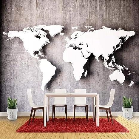 Custom Photo Wallpaper Modern Fashion Wall 3d World Map