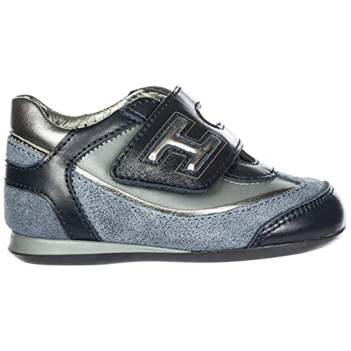 Hogan Sneakers Olympia Bambino Blu Denim Scuro 21 EU  Amazon.it  Scarpe e  borse 40a6b23b013