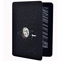 FEELHH Etui do Kindle, smukłe skórzane etui do czytnika Kindle 8Th/10Th Paperwhite 1/2/3/4, statek kosmiczny z nadrukiem…