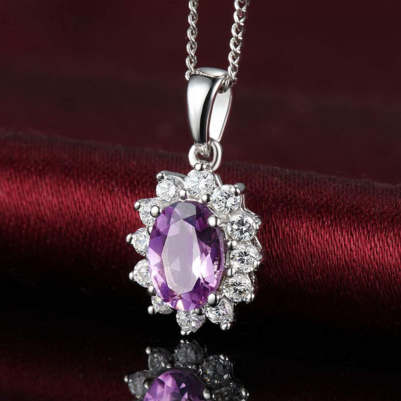 MMC Silver Necklaces Genuine Romantic Amethyst Wedding Gift Womens Pendants