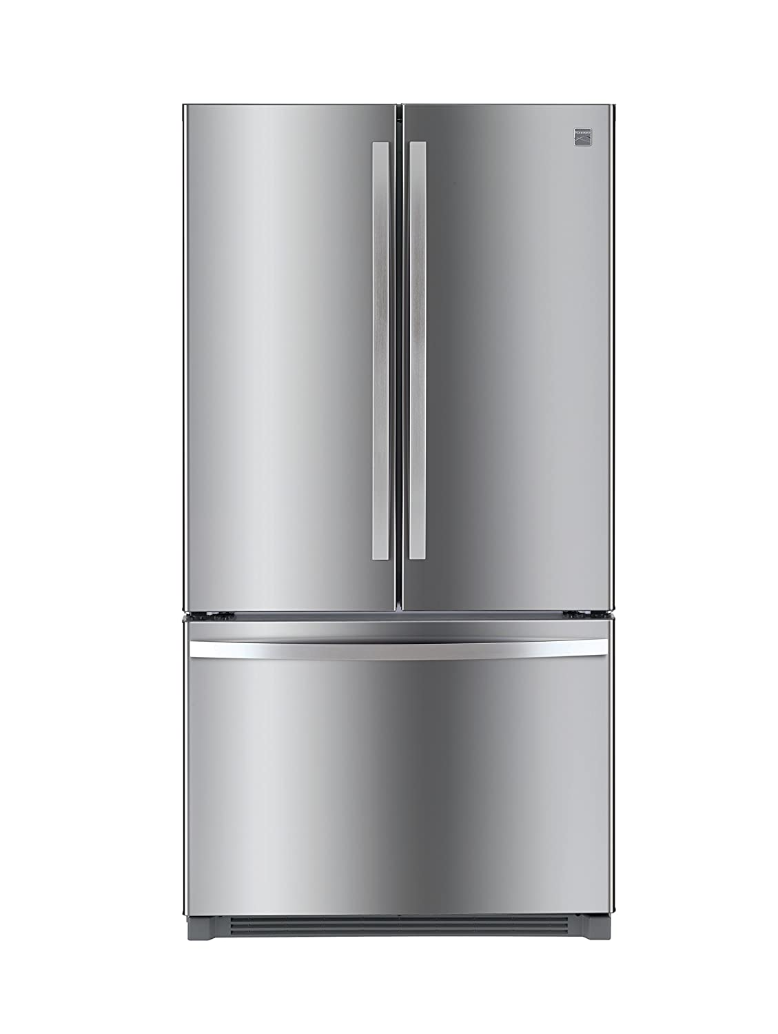 Kenmore 73025 26.1 Cu. Ft. Non Dispense French Door Refrigerator In Stainless Steel With Active Finish, Includes Delivery And Hookup by Kenmore