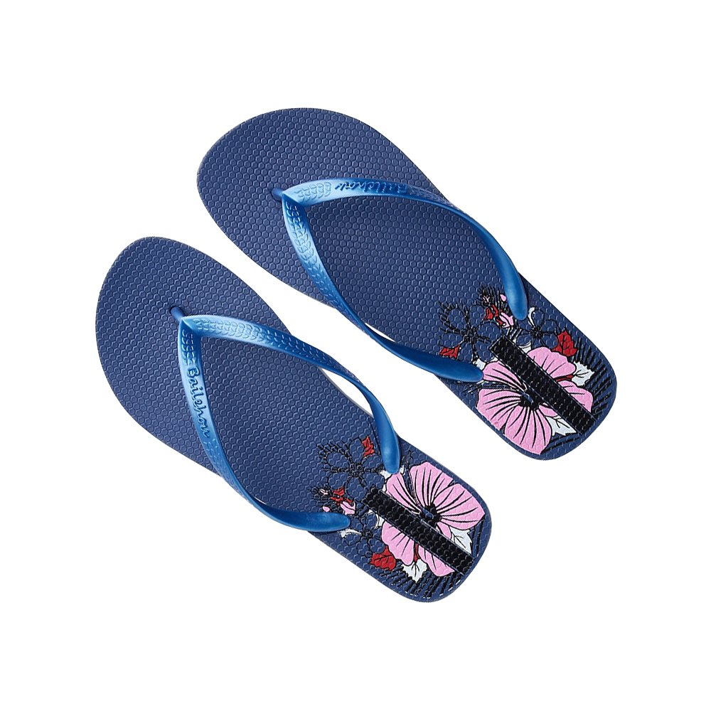 DULEE Damen Sommer Strand und Casual Flip Flops Thongs Sandalen Slipper  38 EU|Blau