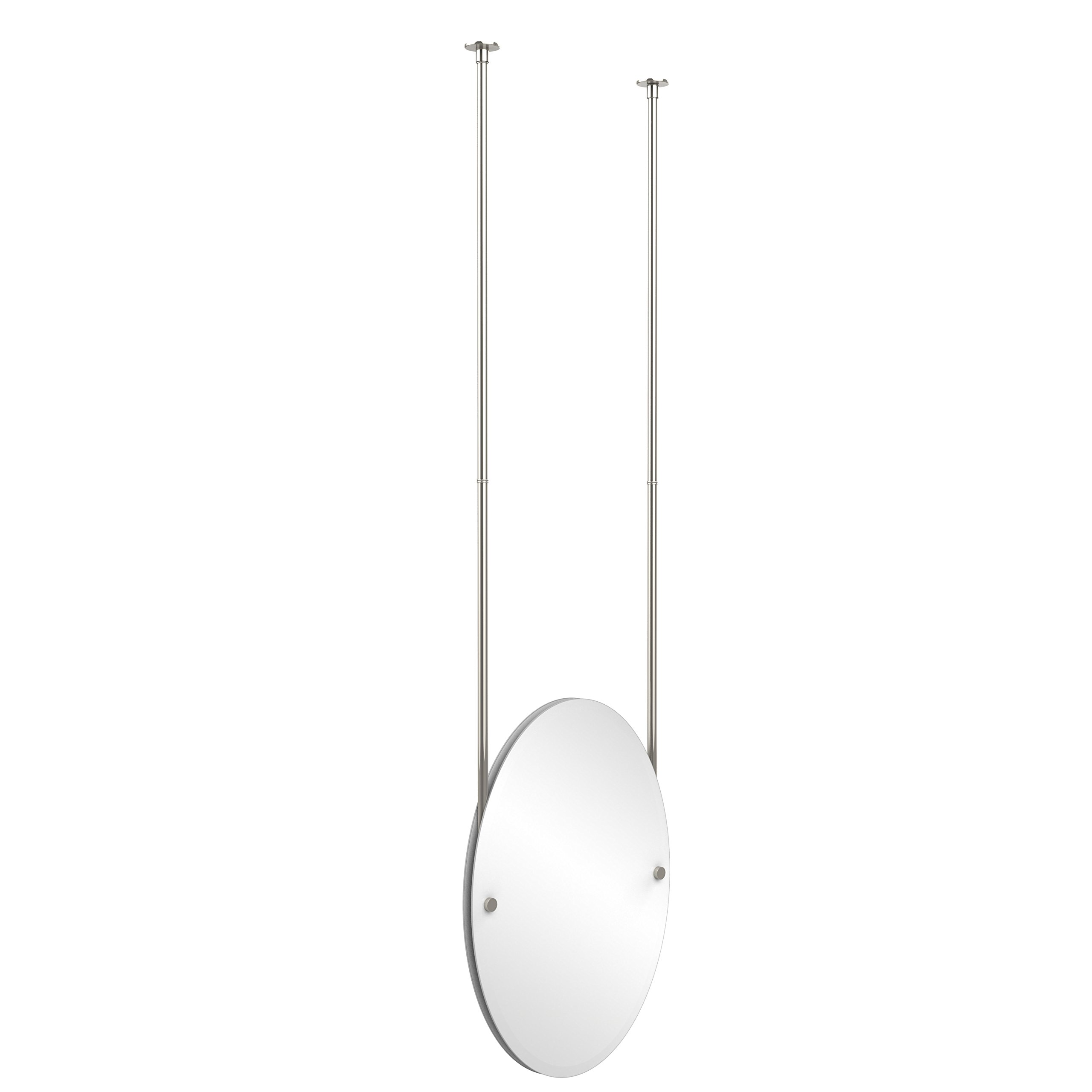 Allied Brass CH-91-PNI  Oval Ceiling Hung Mirror, Polished Nickel