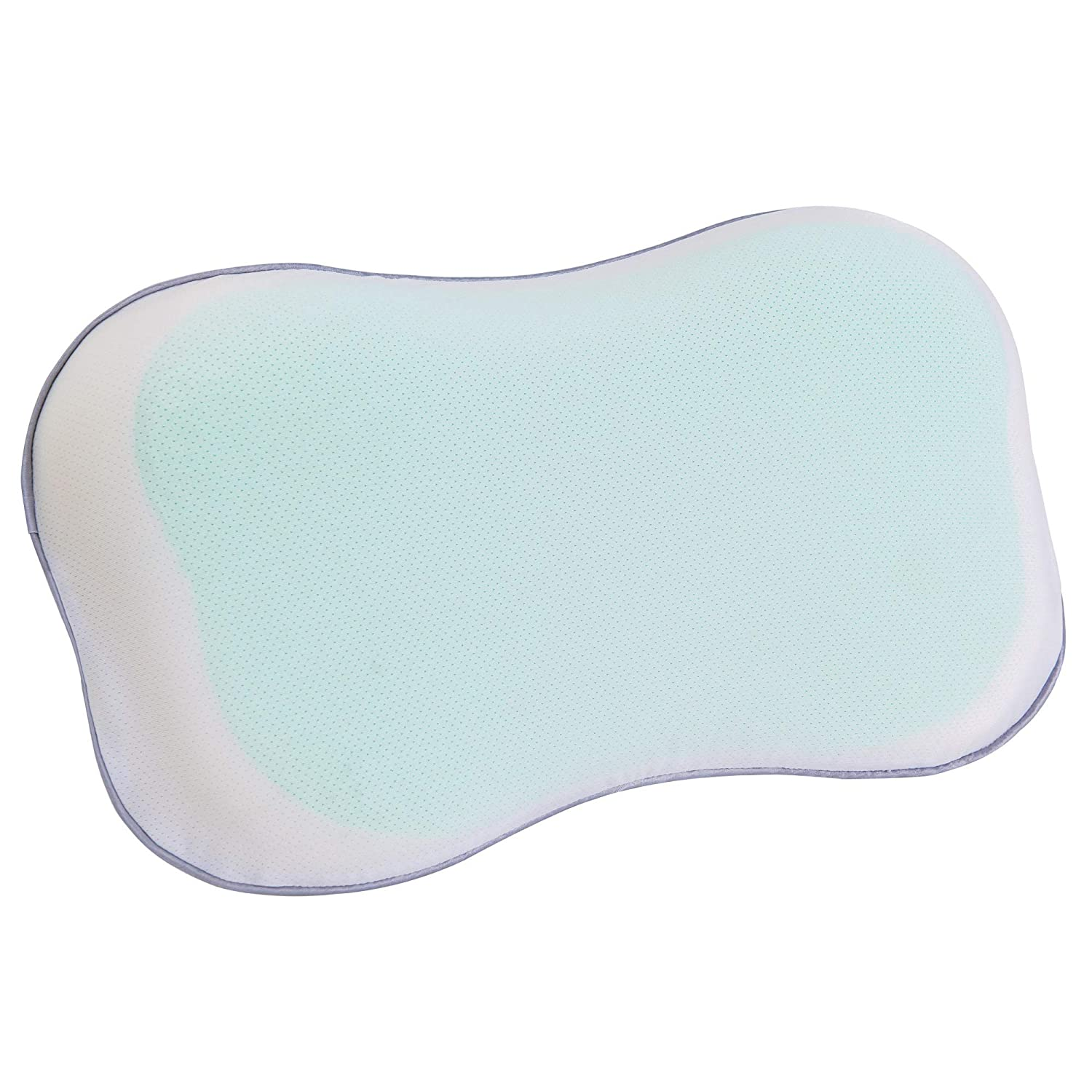 Ergonomic Baby Pillow with Neck Support /& Washable Pillowcase for Back//Side//Stomach Sleepers for 2-5Y Kids Mkicesky Toddler Memory Foam Contour Pillow