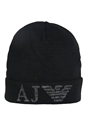 6cab084e Armani Jeans - Beanies - Men - Black AJ Logo Wool Cap for men - TU:  Amazon.co.uk: Sports & Outdoors