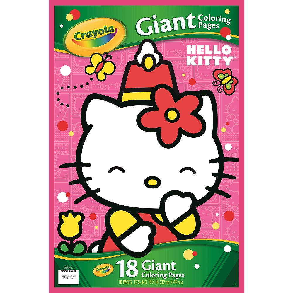 amazon com crayola hello kitty giant coloring pages toys u0026 games