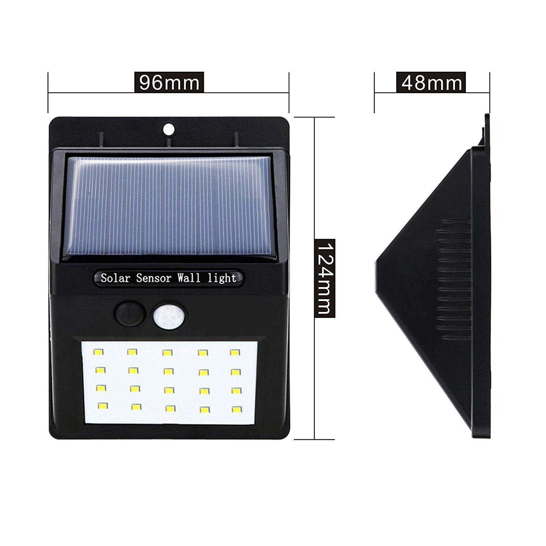 ZEEFO 2Pack 20 LEDs Luces Solares para Exteriors, Luces de ...