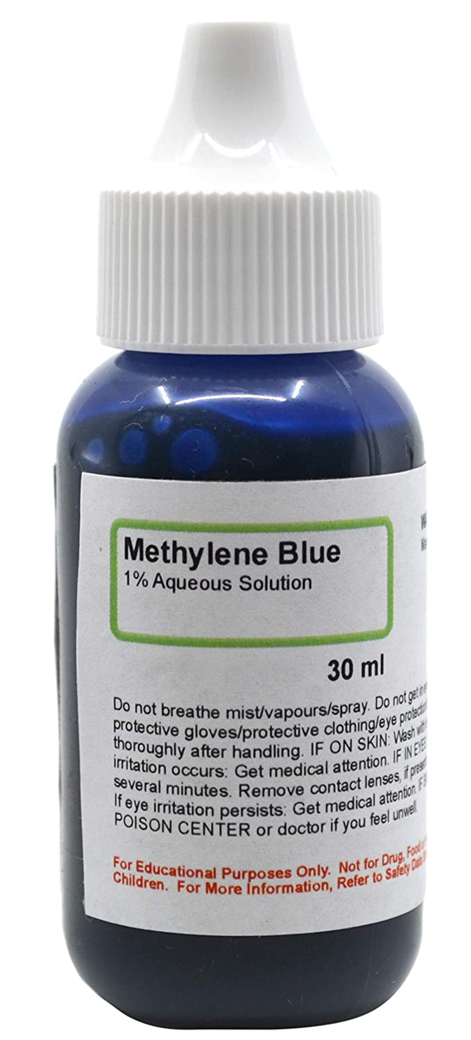 Methylene Blue, 1% Aqueous Solution, 1 fl oz (30mL) - The Curated Chemical Collection