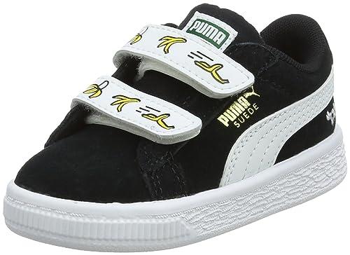 EnfantNoir Suede Mixte Puma Schwarz Minions VSneakers Basses PkuTwOXZi