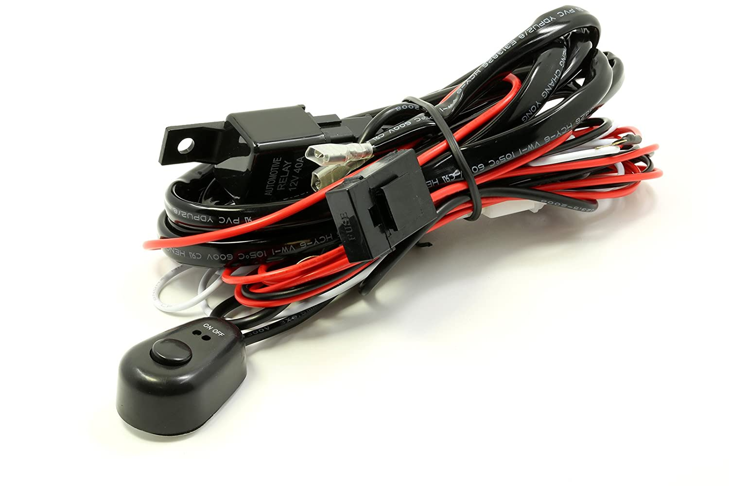 Fast Shipping Lumision Wiring Harness Kit 12V DC 40A Relay ON/OFF Switch on