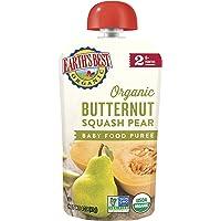 Earth's Best, Organic Butternut Squash Pear, Baby Food Puree, 6+ Months, 4 Pouches, 4.0 oz (113 g) Each