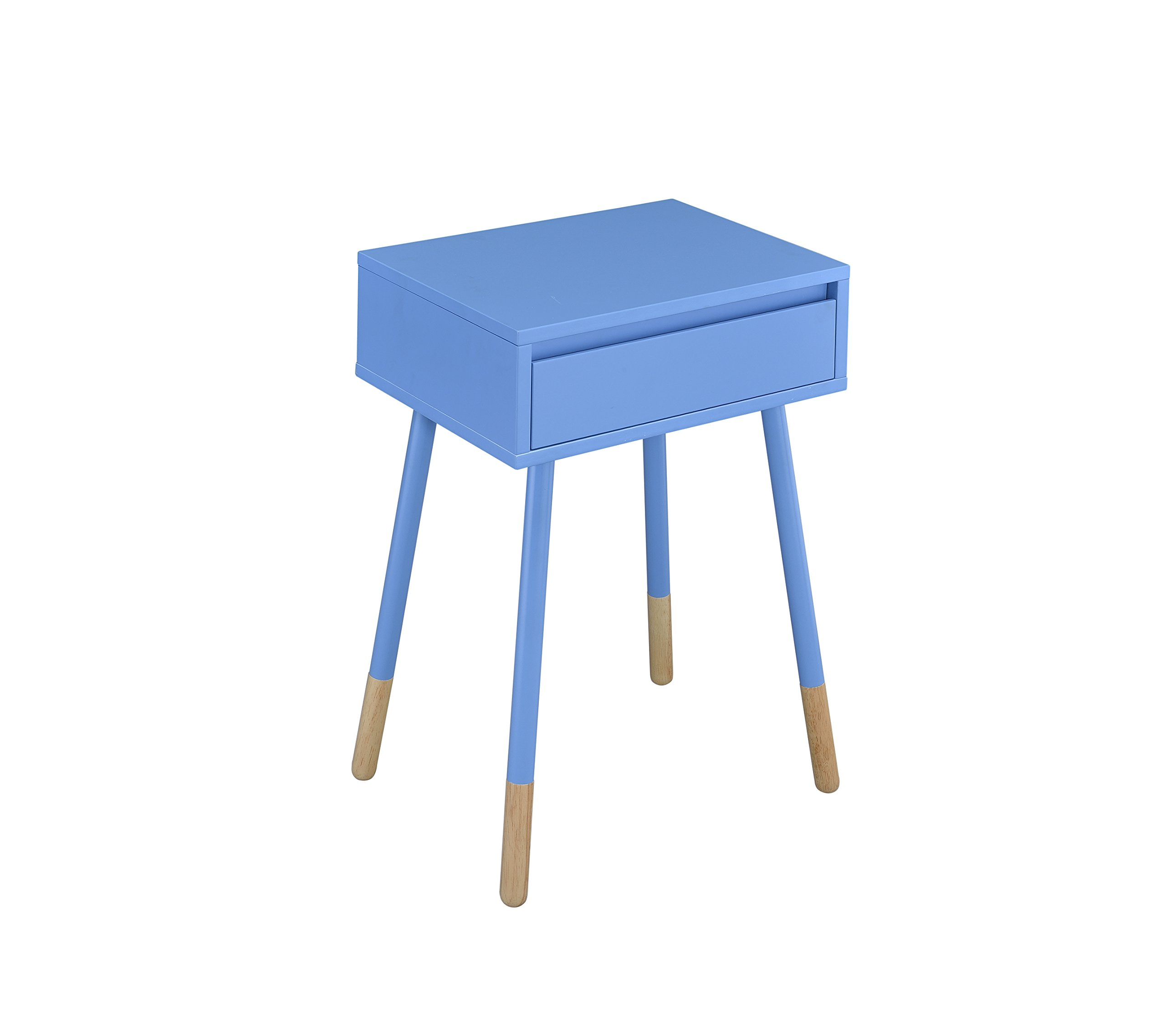 HOMES: Inside + Out IDF-AC176BL Tristina Side Table, Blue