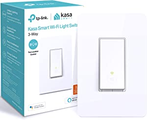 Kasa 3 Way Smart Switch by TP-Link, Wifi Light Switch works with Alexa and Google Home, Neutral Wire Required, No Hub Required, UL Certified, 1-Pack(HS210)