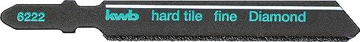 kwb Stichsäge-Blatt für Fliesen und Keramik - Diamant-bestreut, mit T-Schaft für viele handelsübliche Stichsägen, Made in Ger