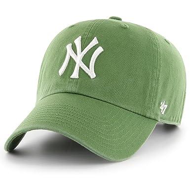 1151685206e Amazon.com   47 Brand MLB NY Yankees Clean up Cap - Fatigue Green ...