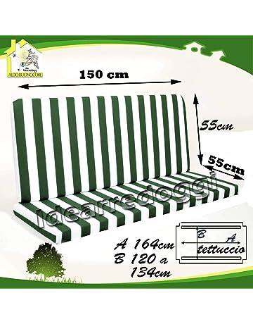 56548d74e2 Cuscino per dondolo Lastra 3 Posti 150 Cm Bianco/Verde