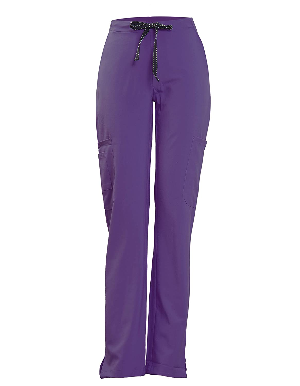 Joy SenScrubs Women's Xtreme Stretch Pants (7 Pockets Elastic Waist Fit Drawstring) Style Kelly Minh Tri Garment & Textile P901KEL