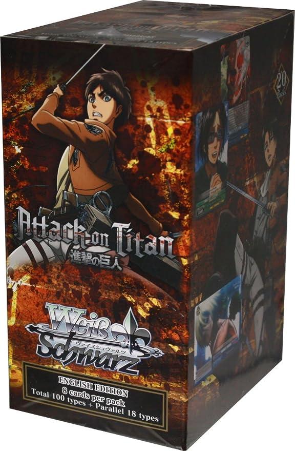 WeiB Schwarz Attack on Titan English Trial Deck *New//Sealed* Weiss