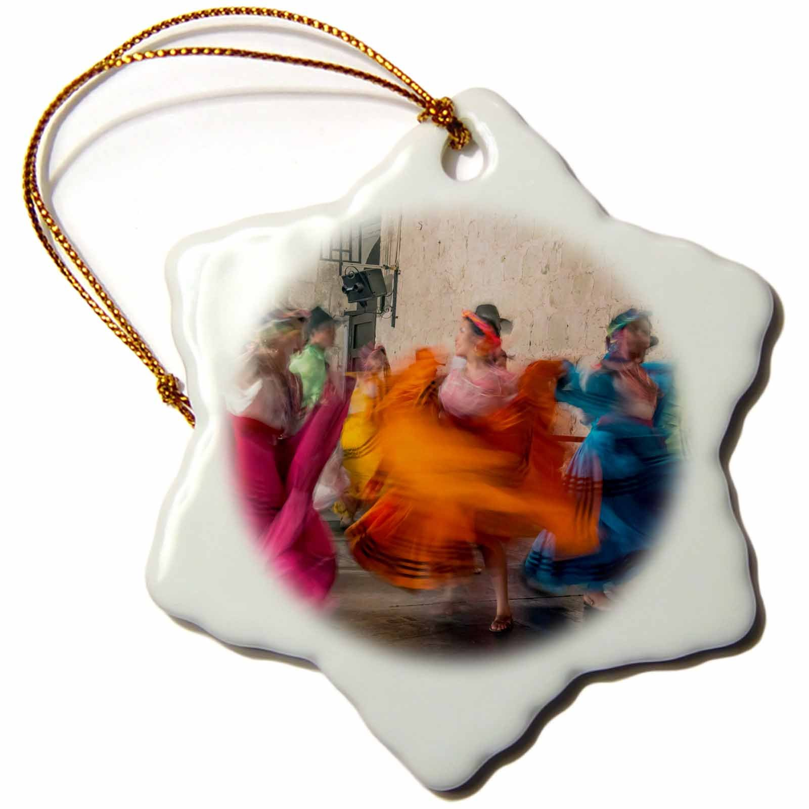 3dRose Mexico, Oaxaca, Mexican Folk Dance 01'' Snowflake Ornament, 3''