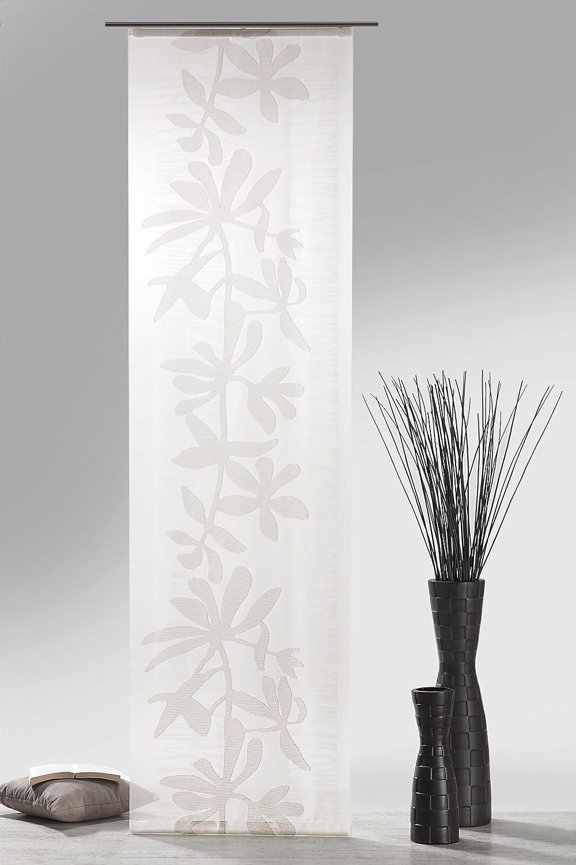 fashion and joy Typ410 Panneau Japonais Aspect Batiste avec Accessoires HxB 245 x 60 cm