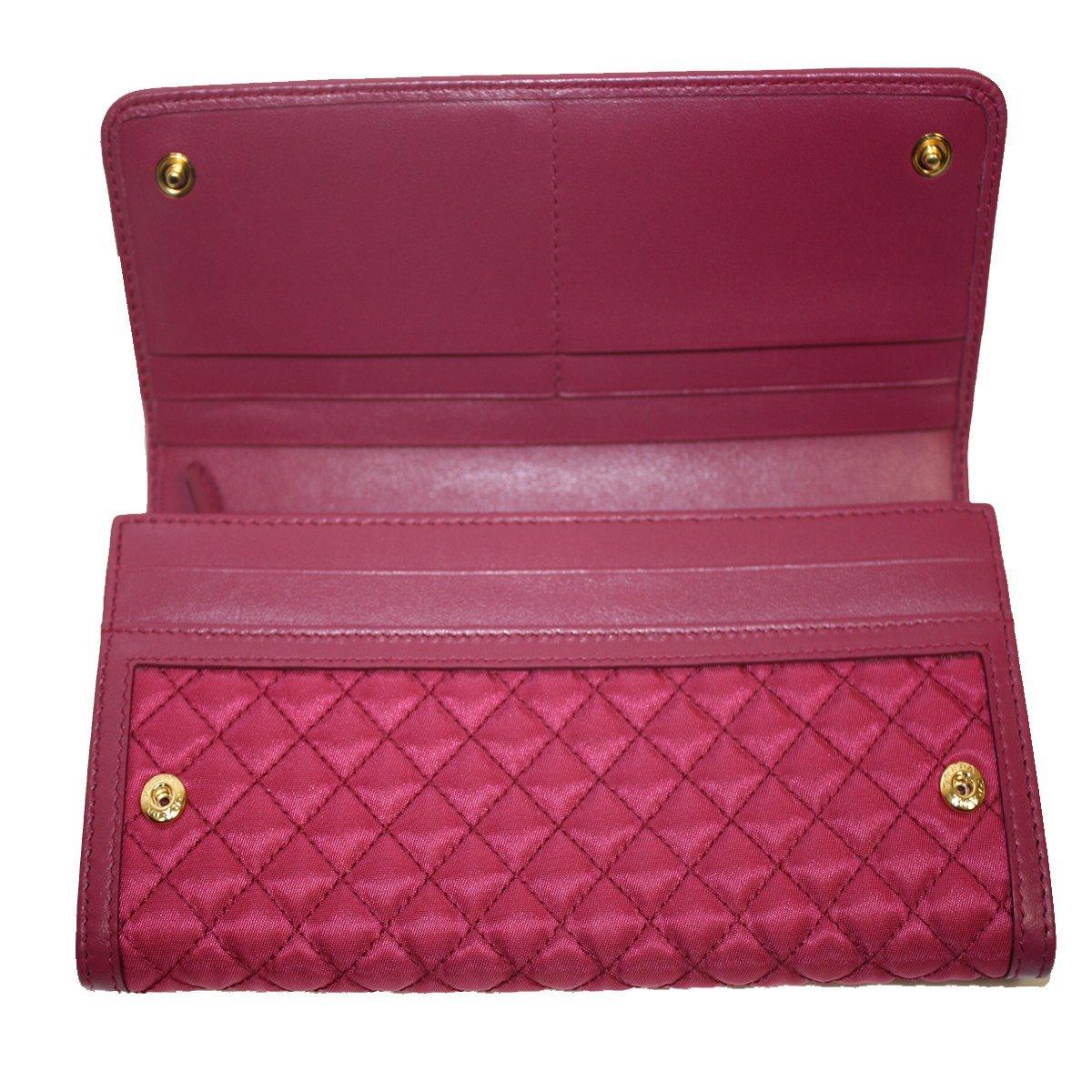 b7fdffd4b175 Prada Tessuto Quilted Nylon Continental Flap Wallet 1M1132