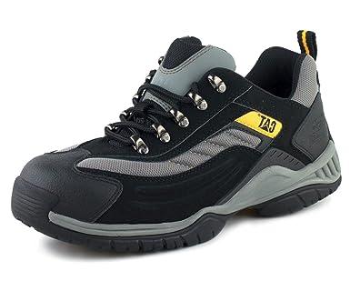 Briggs Caterpillar Moor CAT Zapatillas de entrenamiento de seguridad, Size 6, negro/plata