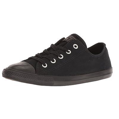 Converse Women's Chuck Taylor All Star Dainty Ox, Black Monochrome, 9 B(M) US | Fashion Sneakers