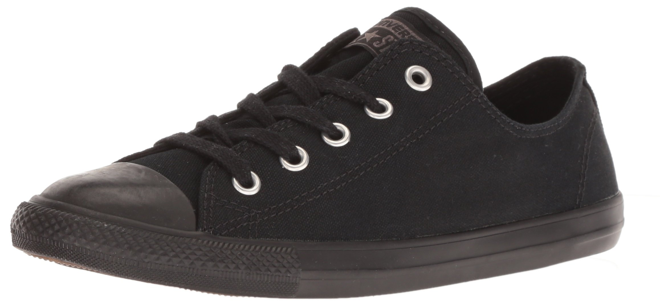 Converse Women's Chuck Taylor Dainty Low Top Sneaker Black Monochrome 11 M US