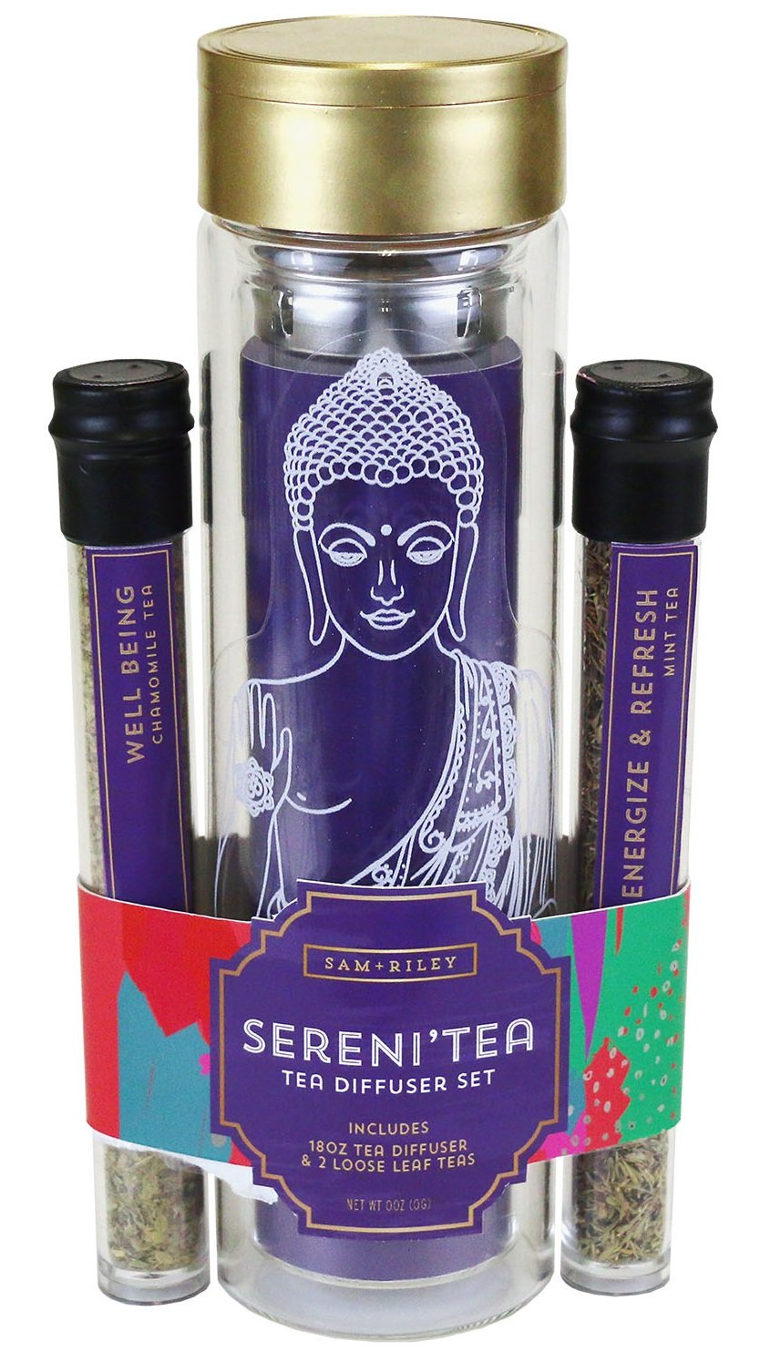 ''Sereni'Tea'' Tea Infuser Gift Set | Tea Infuser Kit with Mint and Camomile Loose Leaf Teas