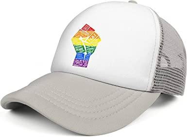 Gay Pride Rainbow Love Wins Unisex Baseball Cap Polyester Snapback Caps Adjustable Trucker Caps Dad-Hat