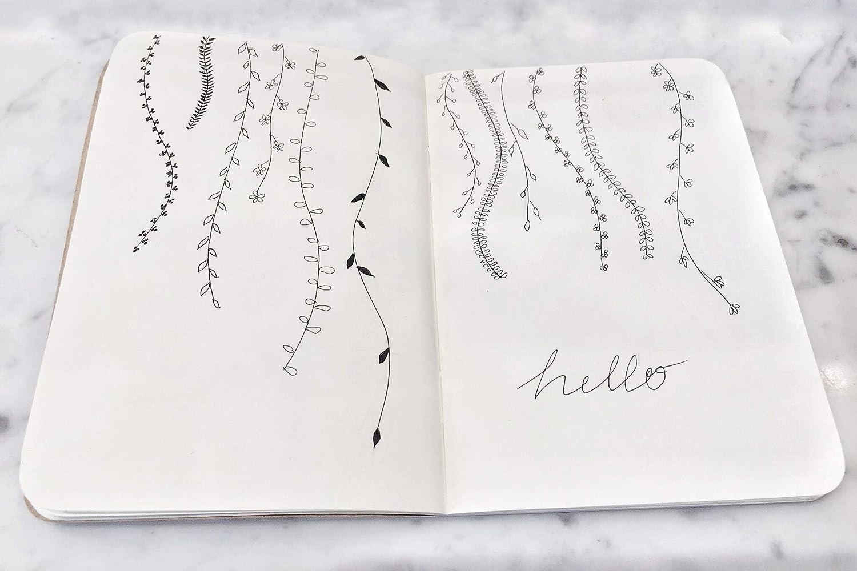 Libreta / Cuaderno de dibujo |Notebook de hojas en blanco | Páginas de Papel Grueso Premium | 7x10 | Hecho en USA