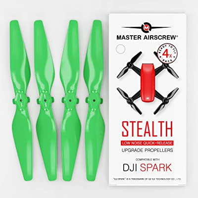 MAS Upgrade Propellers for DJI SPARK in Green - x4 in Set: Camera & Photo