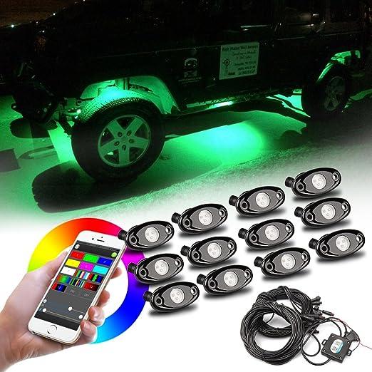1 opinioni per LED Rock Light 12 pcs RGB Car Luce del Neon Dellautomobile Luce di Controllo