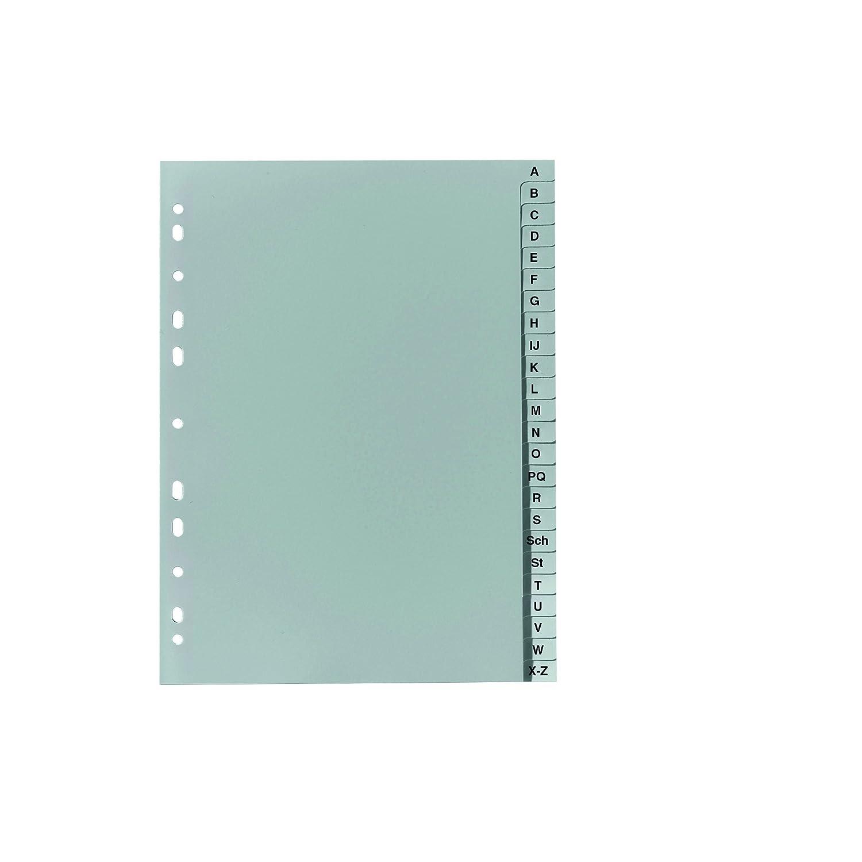 Falken PP plastica di registro per DIN A516, 3x 21cm altezza completa Stampa A Z 24fogli Grigio Anello libro cartella registro di plastica 11297967