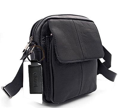 35dfe52461 Charmoni® - Petit Sac pochette sacoche à bandoulière rabat et sa porte clé  cuir -
