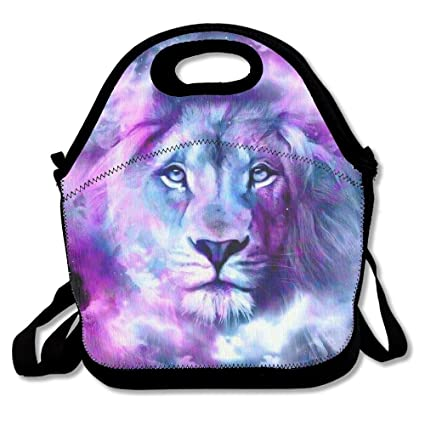 9fefeb8160 Most Fashion Maker Watercolor Lion King Painting Art Lunch Bags Insulated  Travel Picnic Lunchbox Tote Handbag