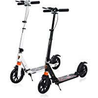 Tygatec Revo 2-Wheel Kick Scooter | Foldable Design | 3 Adjustable Heights | Rear Wheel Disc Brake | Heavy Duty Deck Carrying Capacity up to 100 KG | Aluminum Frame with Cushioned Handle | (Assorted Colors) - Pack of 1
