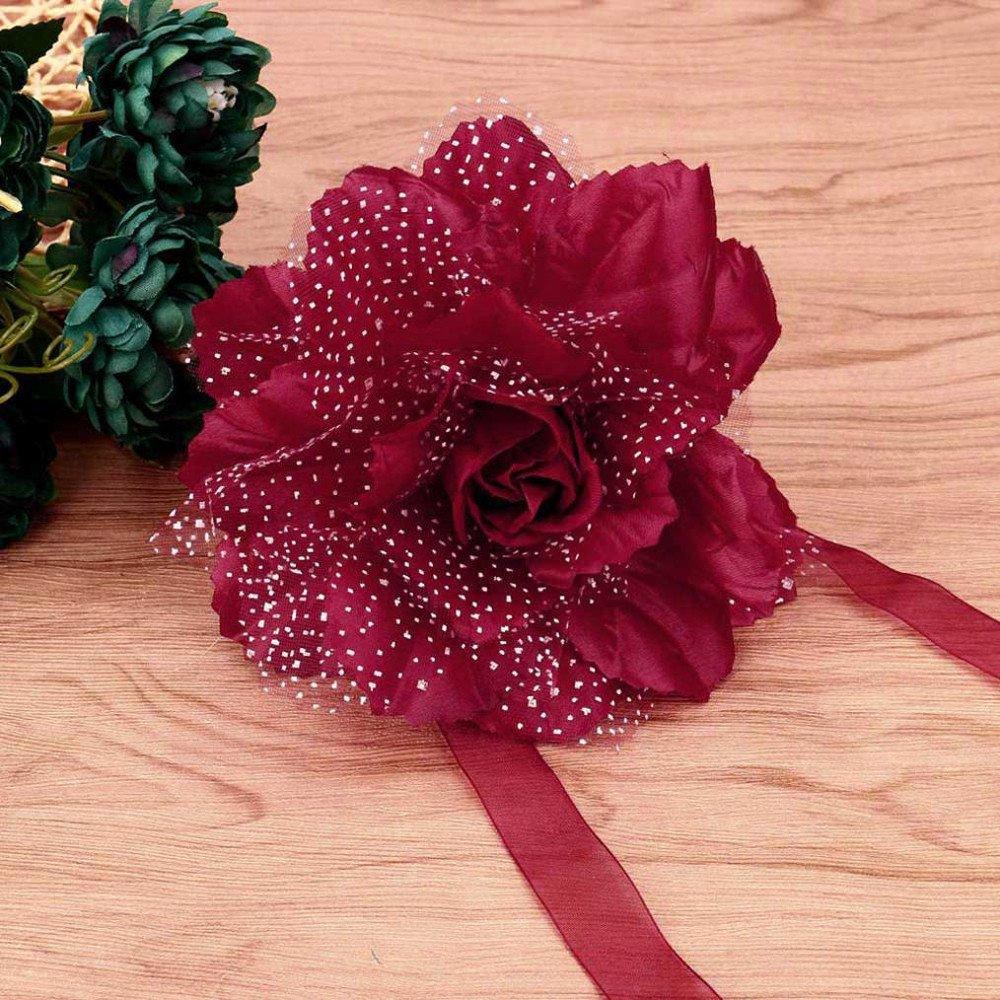 Clearance Tuscom 2Pcs Best Peony Flower Curtain Clip-on Tie,for Backs Holdback Tieback Holder Panel(10 Colors) (I)