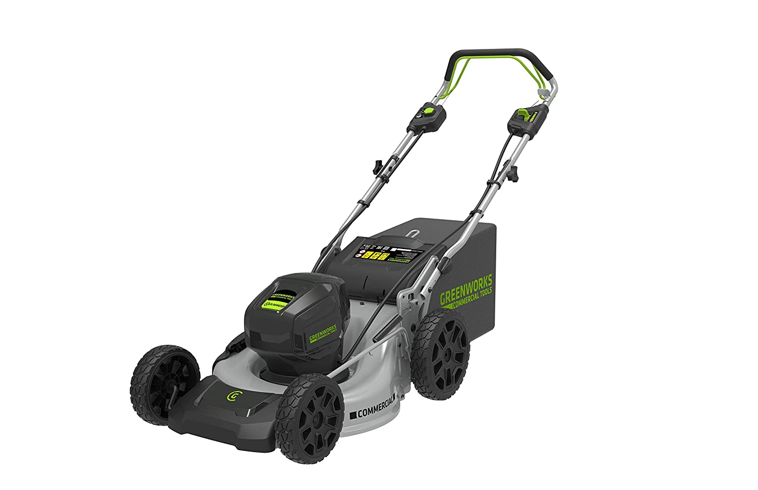 Greenworks GC82LM46SP Cortacésped Inalámbrico, Gris/Negro: Amazon ...