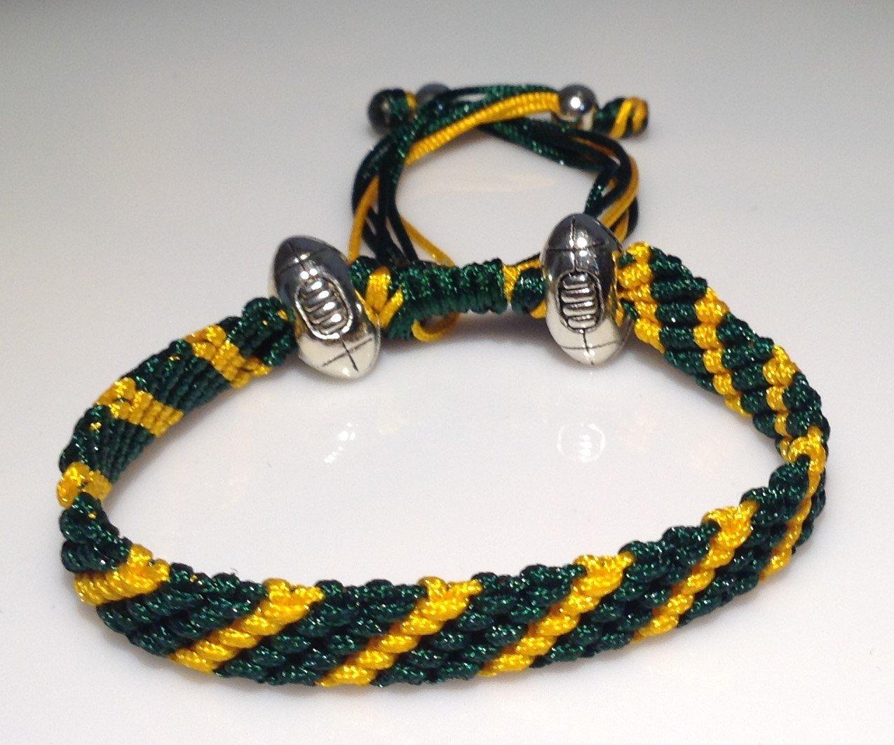 Marys Terrace pulseras de cordon de RUGBY Cualquier dise/ño de equipo de RUGBY. Hecho a mano a la orden