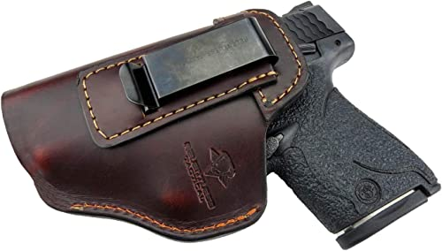Relentless Tactical The Defender Leather IWB Holster For S&W M&P Shield - GLOCK 17 19 22 23 32 33 / Springfield XD & XDS / Plus All Similar...