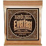 Ernie Ball Everlast Extra Light (10-50) Coated Phosphor Bronze Acoustic Guitar Strings (P02550)