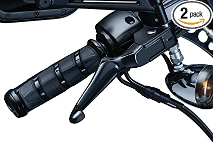 Gloss Black Kuryakyn 1845 Motorcycle Handlebar Accessory Clutch and Brake Trigger Levers for 1996-2017 Harley-Davidson Motorcycles with Cable Clutch 1 Pair