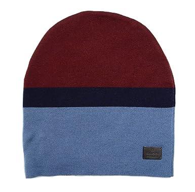 Amazon.com  Gucci Unisex Burgundy Blue Wool Beanie Hat 353999 6068 ... 54d8b3c1981