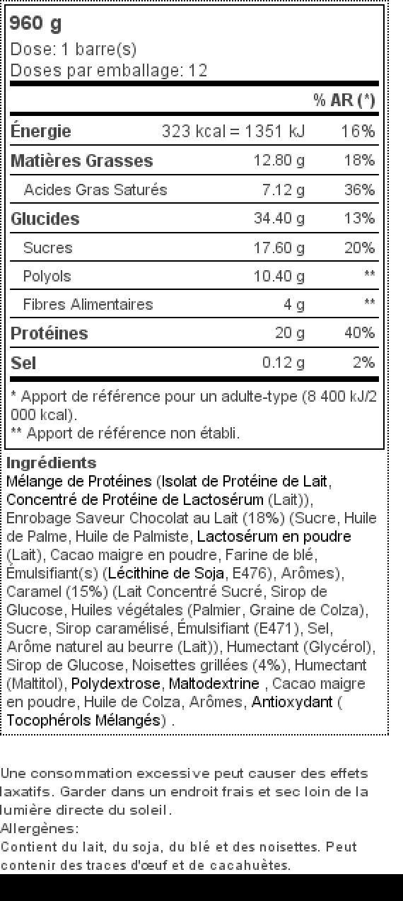 a884d4f2bb0e Prozis Barrette Protein Deluxe 12 x 80g - Delizioso snack al cioccolato e  nocciole senza sensi di colpa  20g di proteine