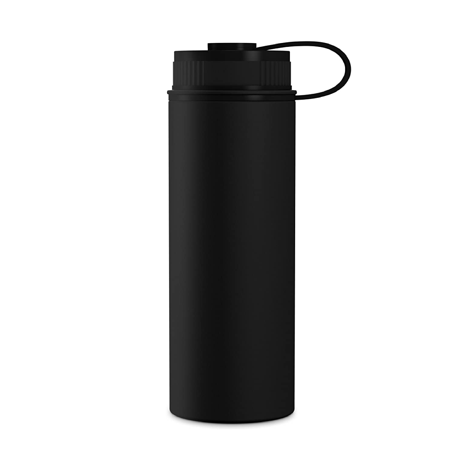 GEO 18oz Double Wall Vacuum Insulated Stainless Steel Leak Proof Sports Water Bottle Wide Mouth w//BPA Free Screw Cap