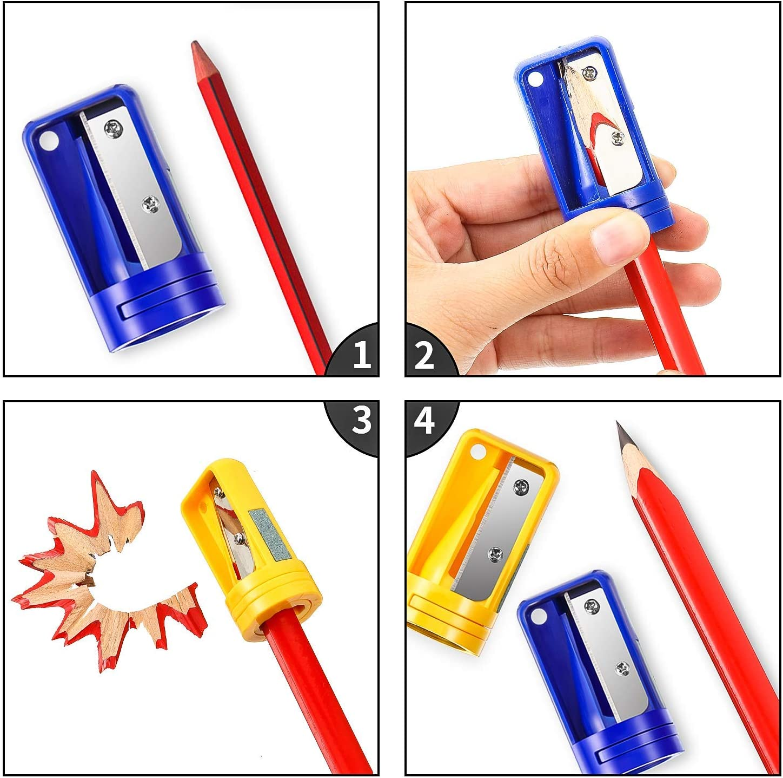 Gearmax 12 Pcs Carpenters Pencil Sharpener,Manual Plastic ...