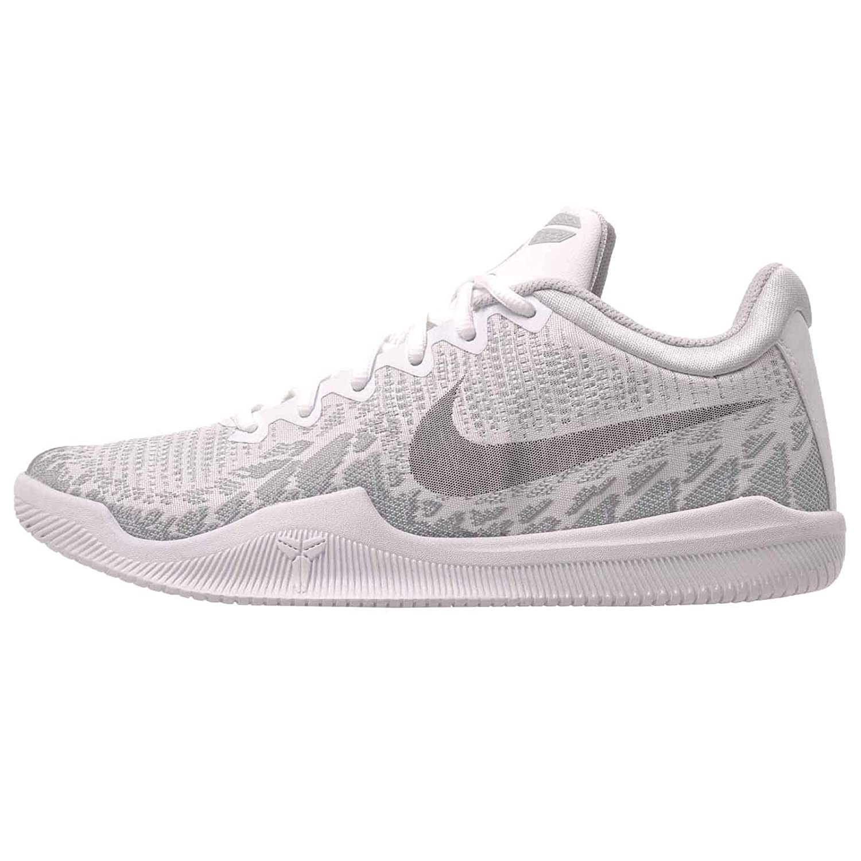 Nike Mens Kobe Mamba Rage Basketball Shoes (9.5, White/Black/Pure Platinum)