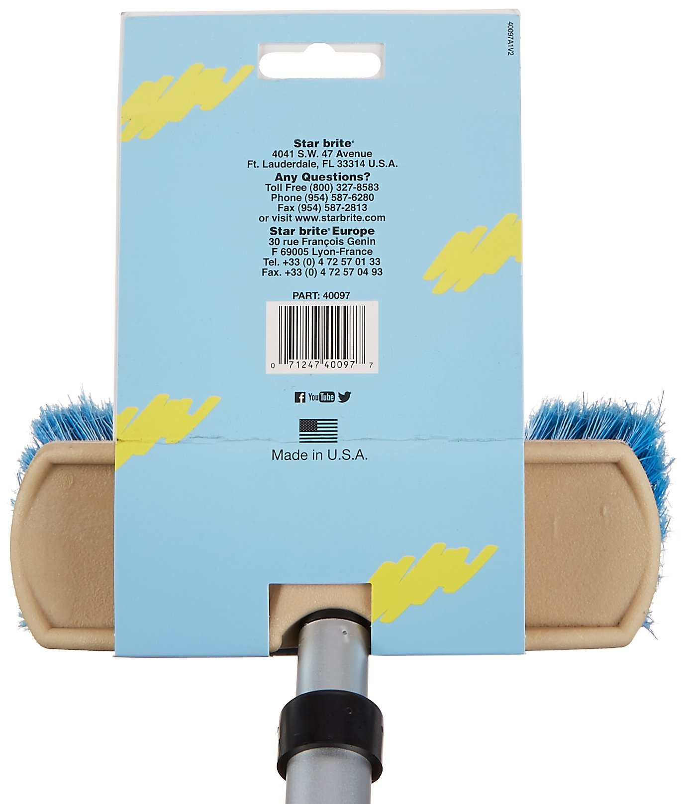 Star brite Brush & Compact Handle Combo - Extends 2'-4' - Made in USA by Star Brite (Image #4)