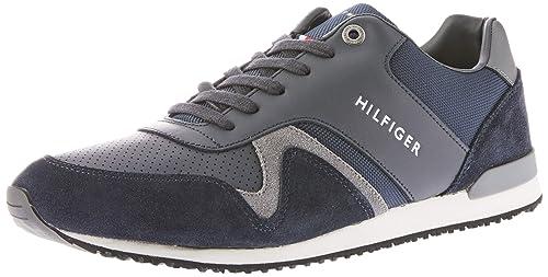 Tommy Hilfiger Iconic Leather Textile Runner, Zapatillas para Hombre: Amazon.es: Zapatos y complementos